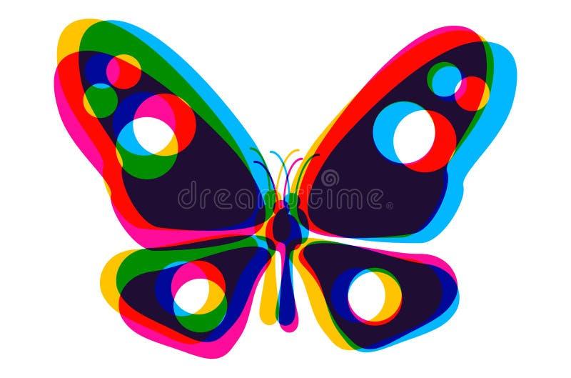 Бабочка в стиле CMYK бесплатная иллюстрация