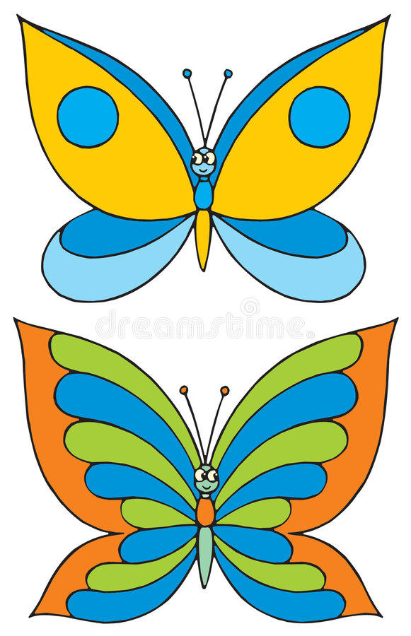 Бабочка (зажим-искусство вектора) иллюстрация штока