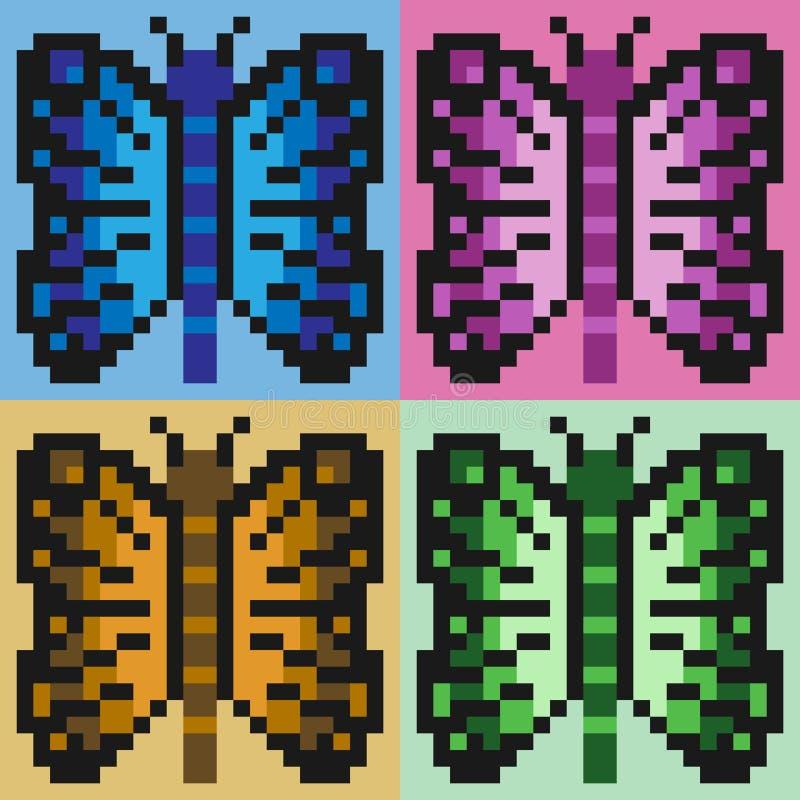 Бабочка искусства пиксела иллюстрации стоковое фото