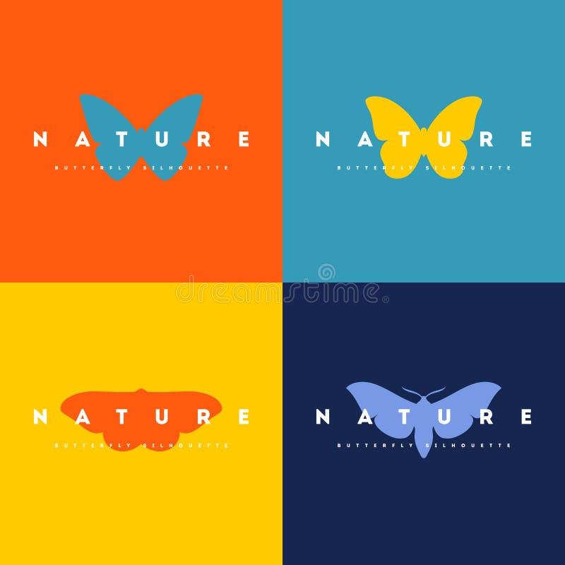 Бабочка Комплект шаблонов вектора дизайна логотипа бесплатная иллюстрация