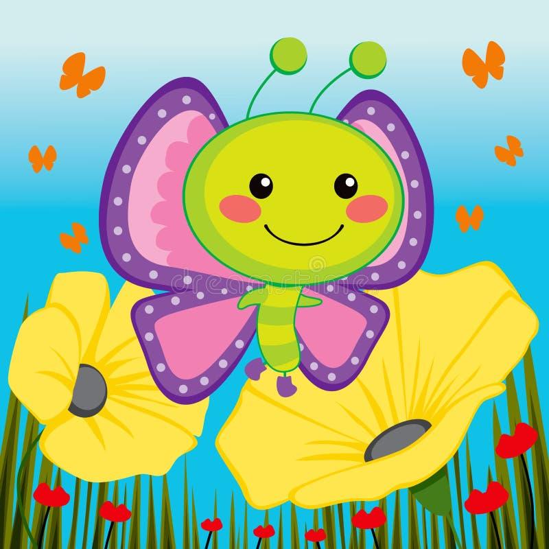 бабочка милая иллюстрация вектора