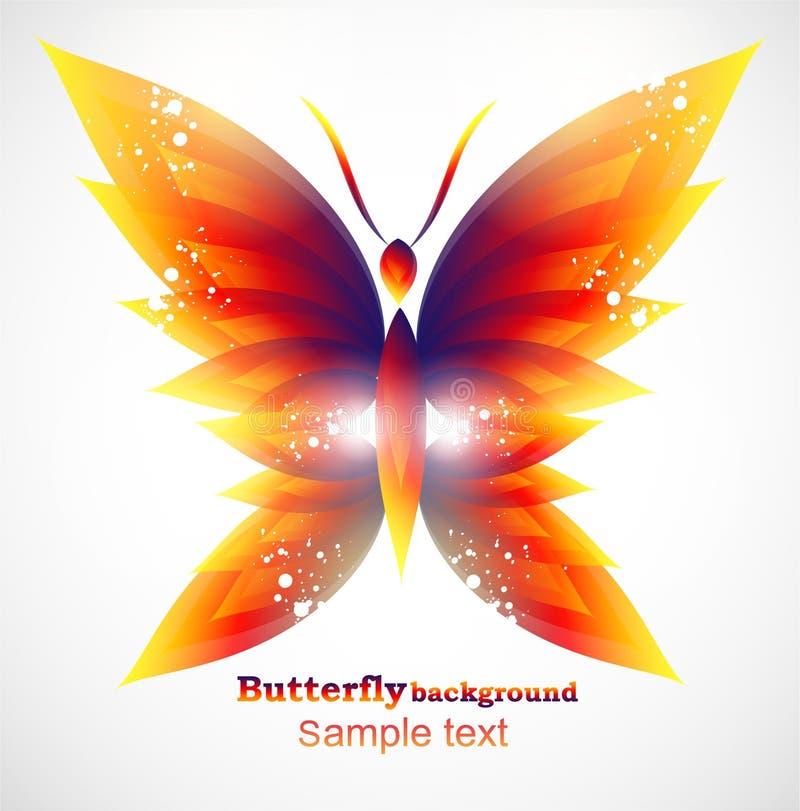 бабочка предпосылки иллюстрация вектора