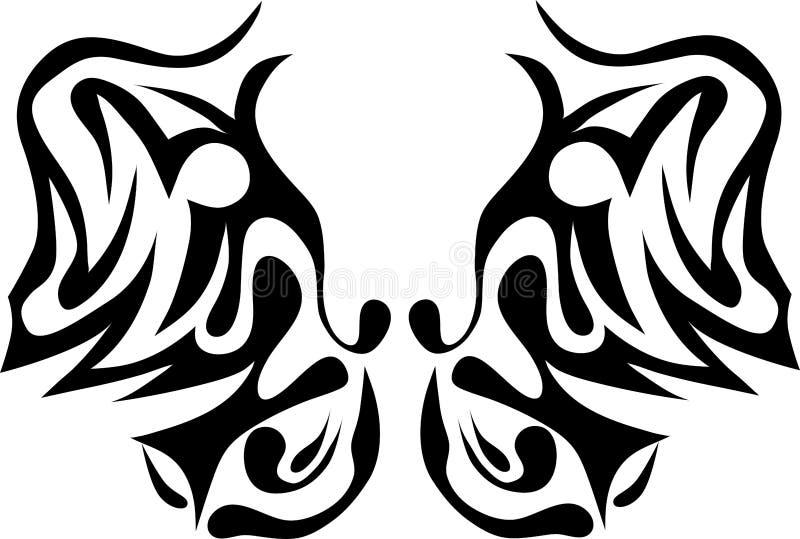 бабочка соплеменная бесплатная иллюстрация