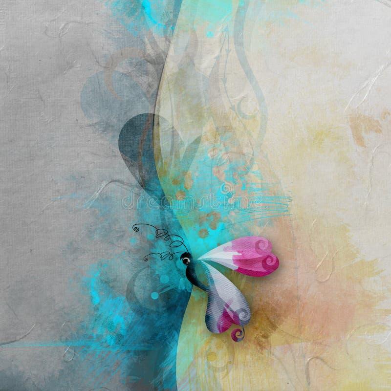 Бабочка с текстурированной предпосылкой стоковое фото rf