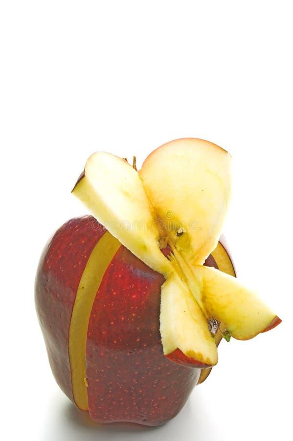 бабочка яблока стоковая фотография