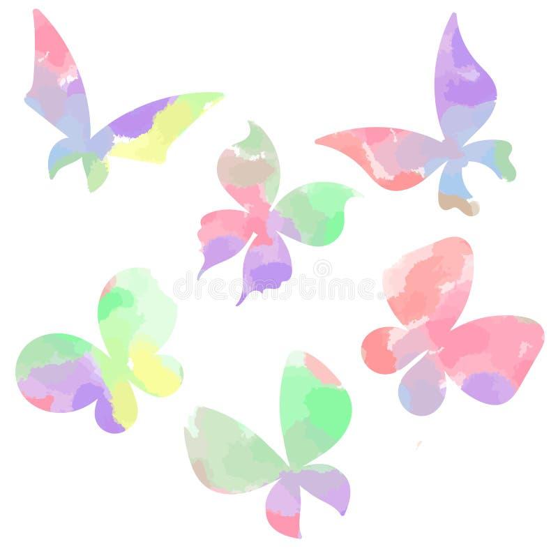 Бабочки акварели стоковая фотография rf