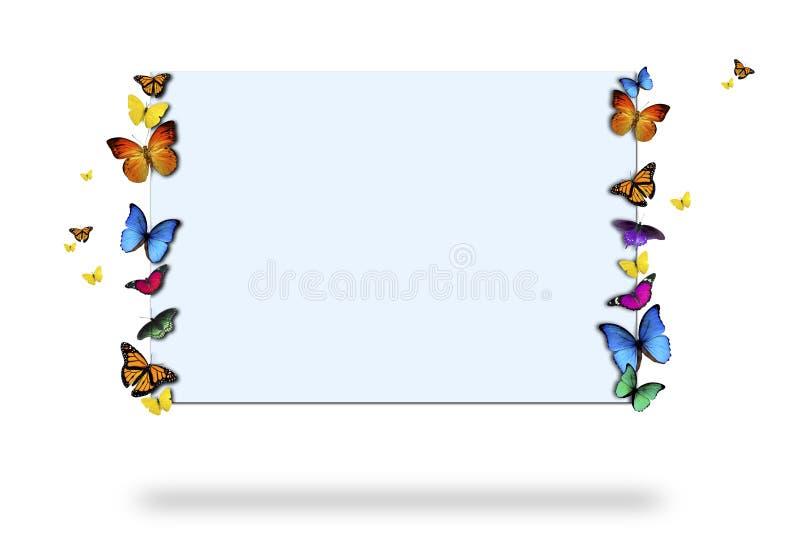 бабочки держа знак иллюстрация штока