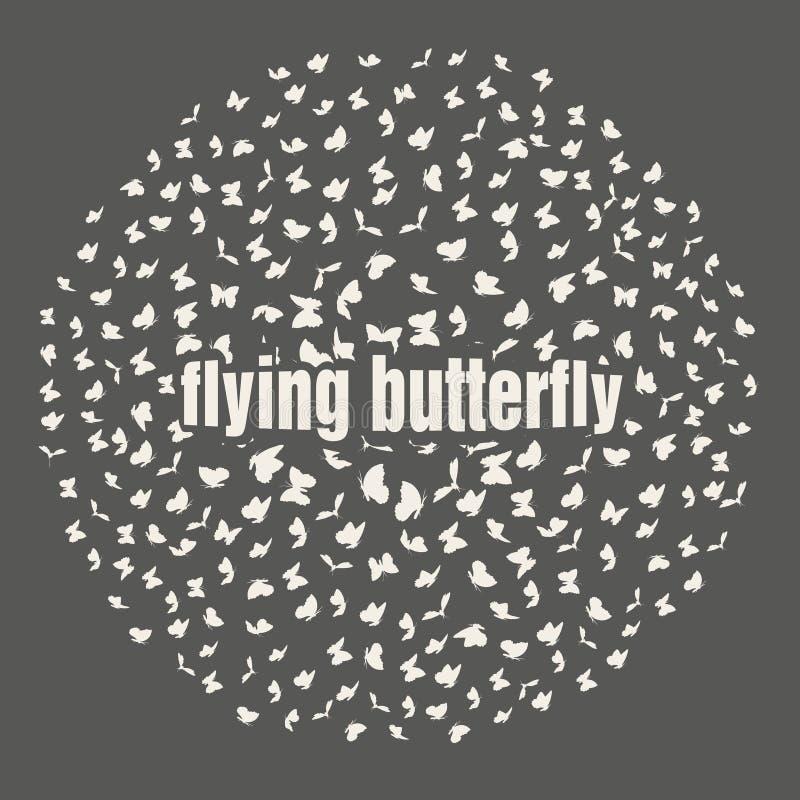 Бабочки летая в scatter круга внутри бесплатная иллюстрация