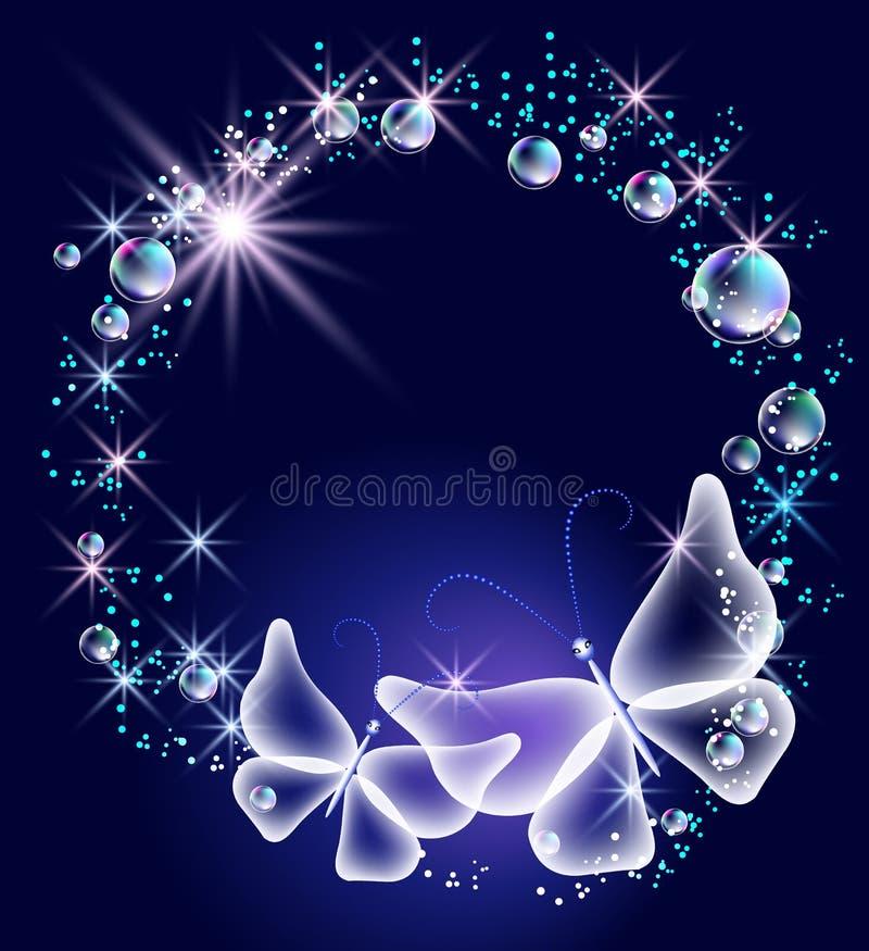Download Бабочки и пузыри иллюстрация вектора. иллюстрации насчитывающей ясность - 33734764