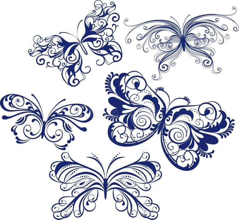 бабочки орнаментальные бесплатная иллюстрация