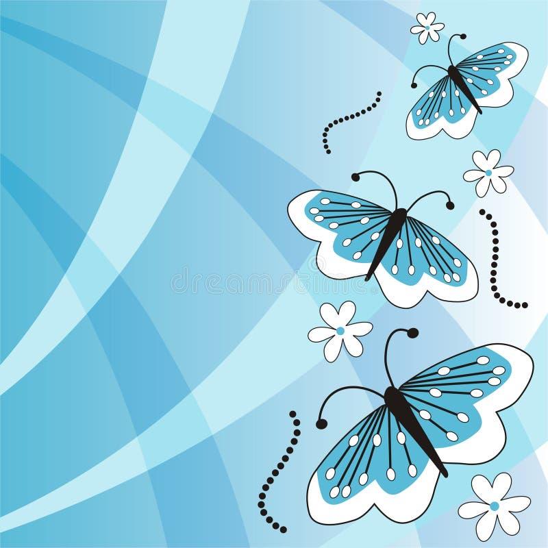 бабочки предпосылки иллюстрация вектора