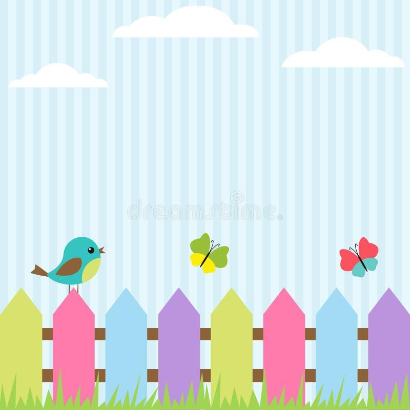 бабочки птицы иллюстрация штока