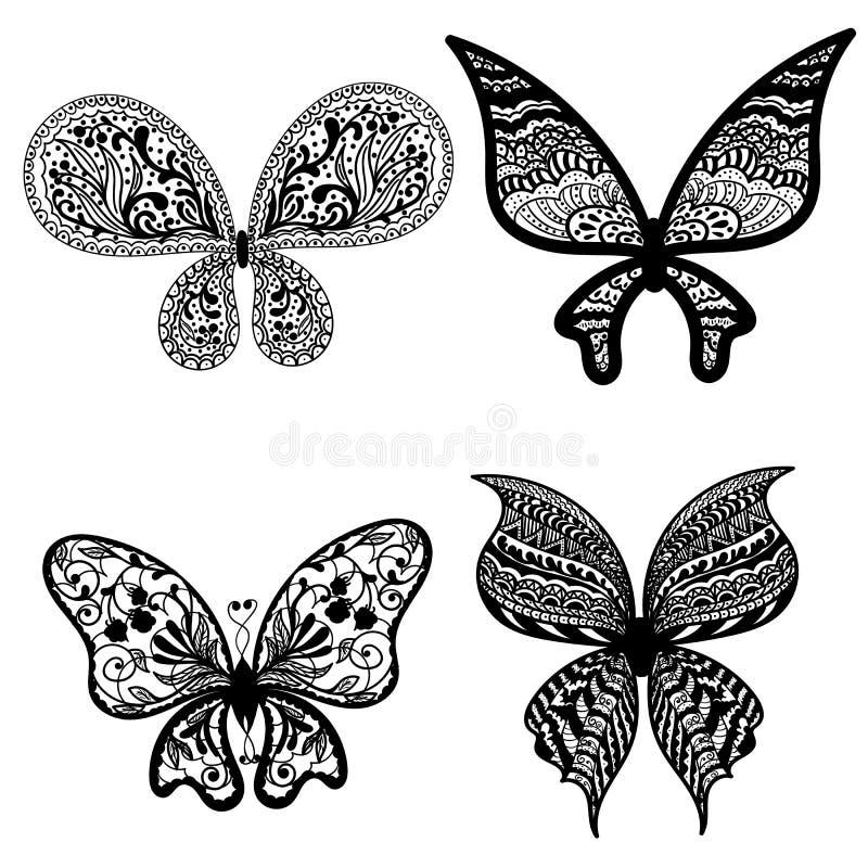Бабочки с картиной стоковые фотографии rf