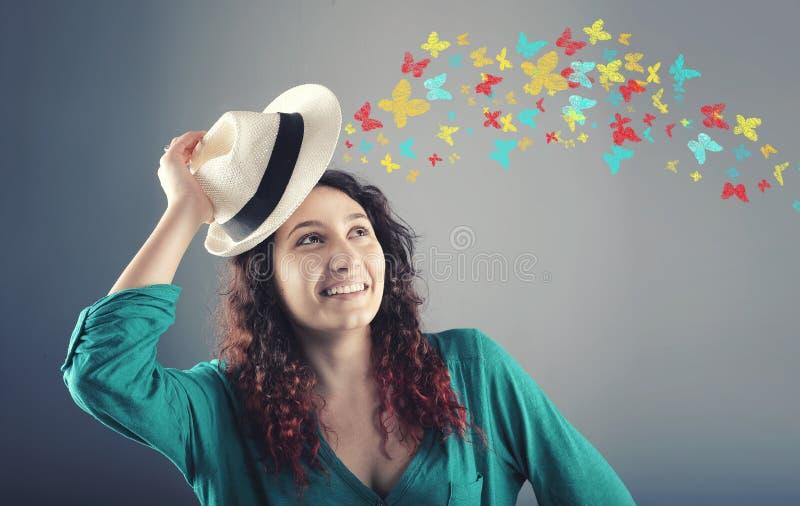 Бабочки цветов стоковая фотография rf