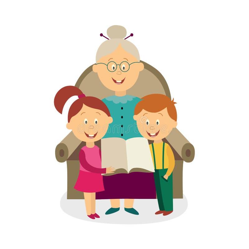 Мультяшные картинки бабушка и внуки