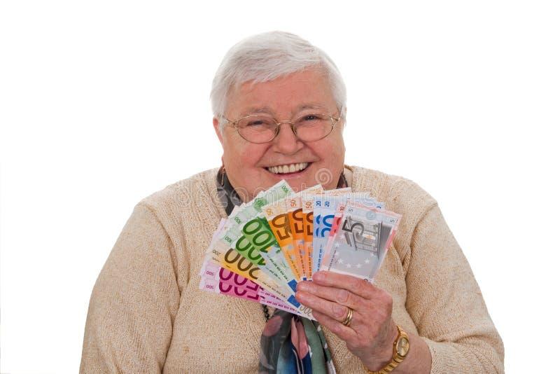 бабушка евро стоковое фото rf