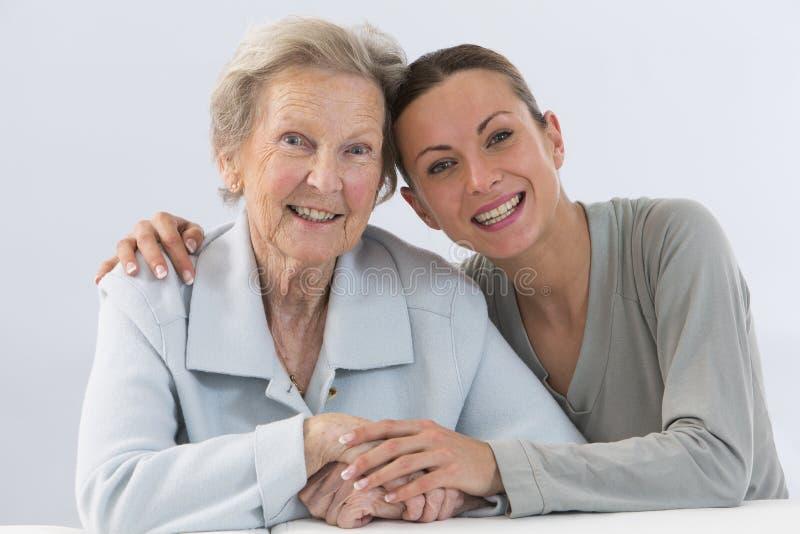 Бабушка и внучка стоковые изображения rf