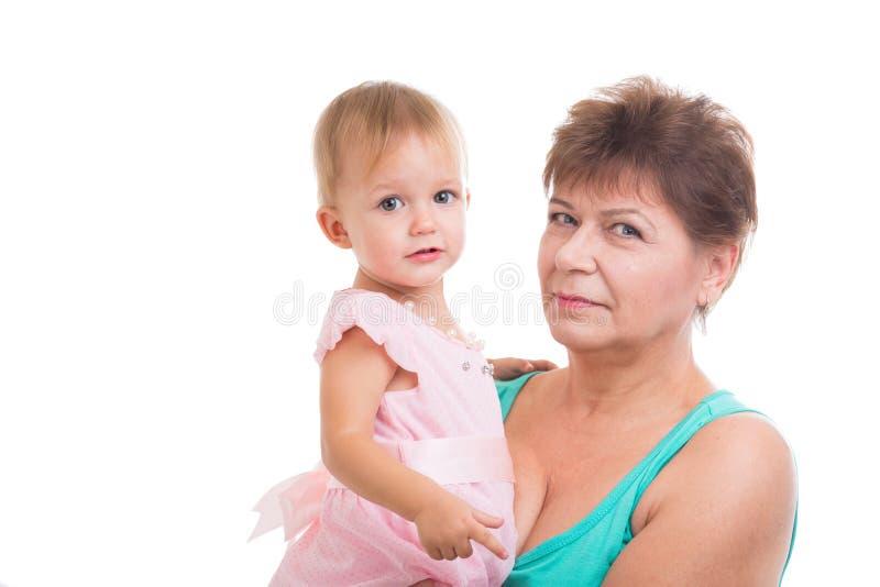 Бабушка и внучка стоковая фотография