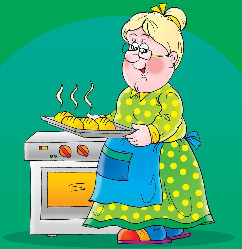 Картинка для детей бабушка репу печет в по тарелочкам кладет картинках