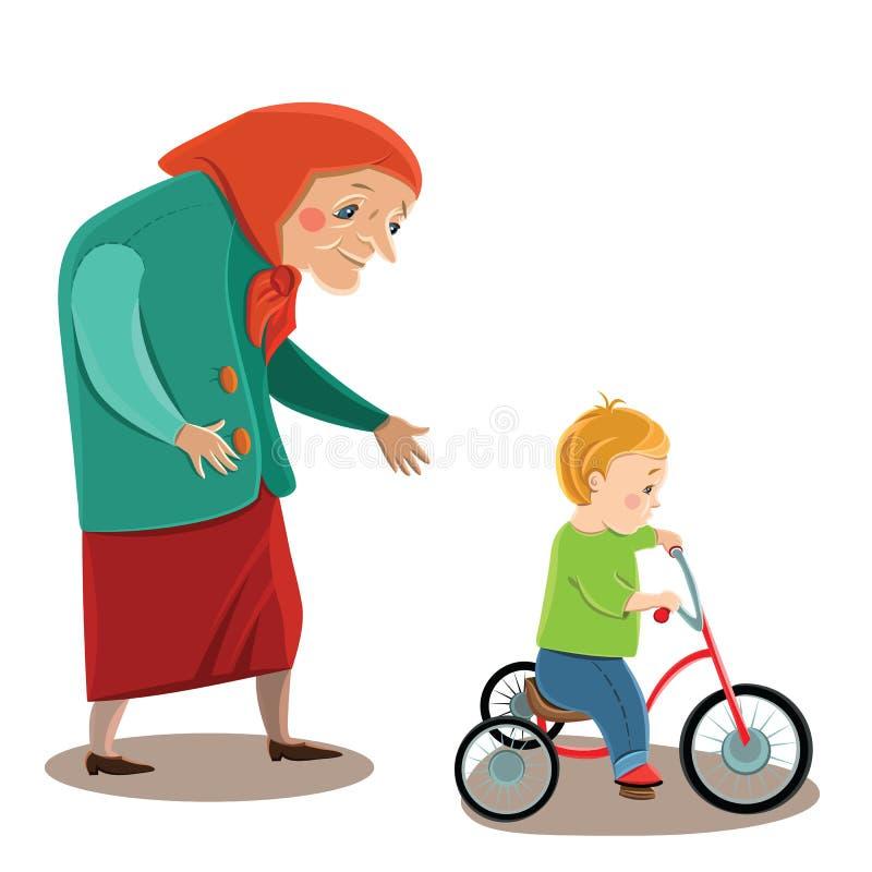 бабушка иллюстрация вектора