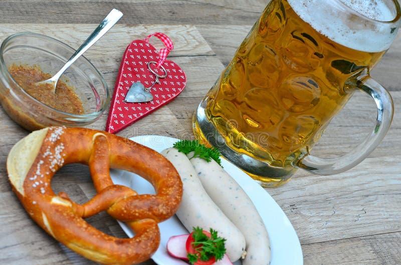 Баварское пиво еды стоковые изображения rf