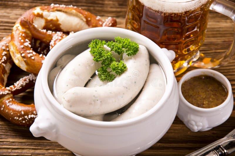 Баварский завтрак с белой сосиской стоковое фото rf