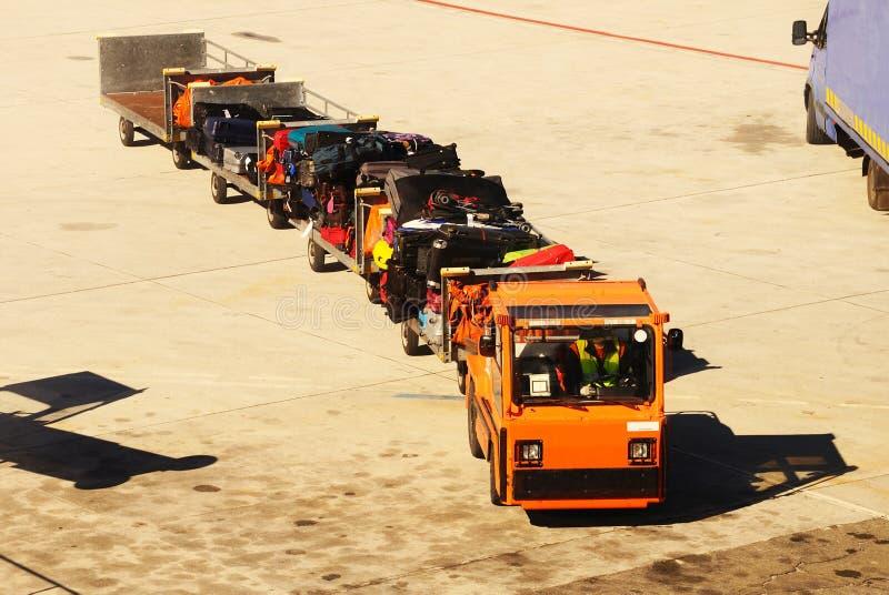Багажная тележка, авиапорт Малаги. стоковое фото rf