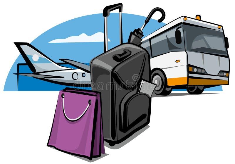 багаж авиапорта иллюстрация вектора