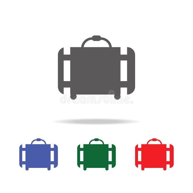 Багаж, значок багажа Элементы значков авиапорта multi покрашенных Наградной качественный значок графического дизайна Простой знач бесплатная иллюстрация