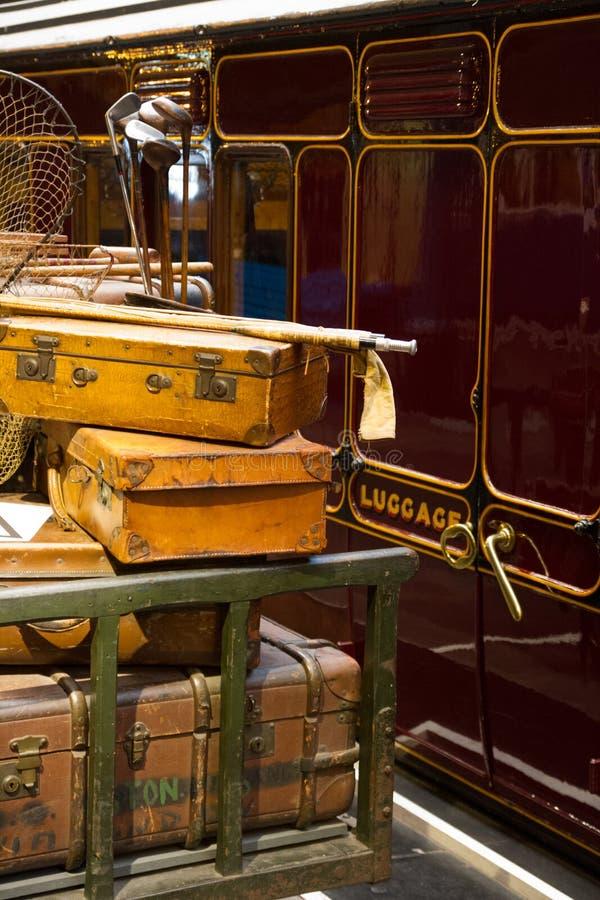 Багаж на платформе стоковое фото rf
