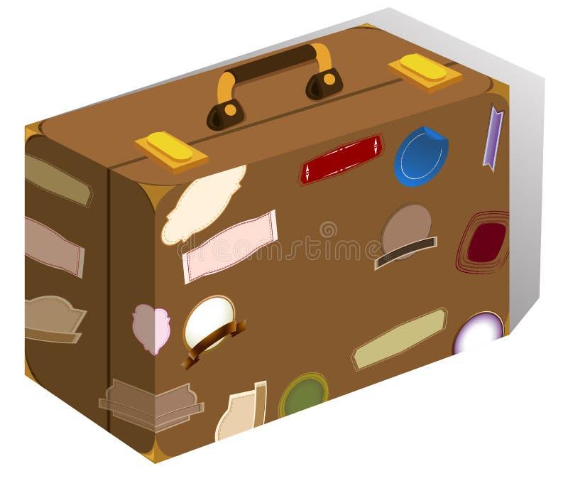 Багаж с стикерами на ем бесплатная иллюстрация
