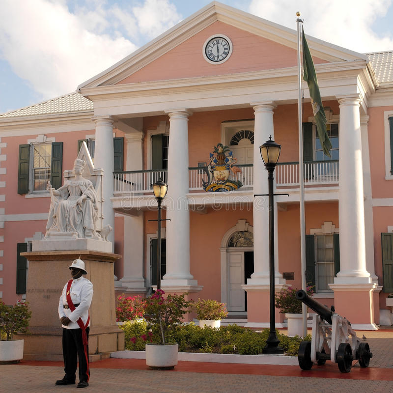 Багамы - Дом правительства стоковые изображения rf