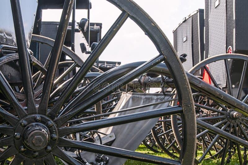 Багги Амишей, spoked колеса стоковое изображение rf