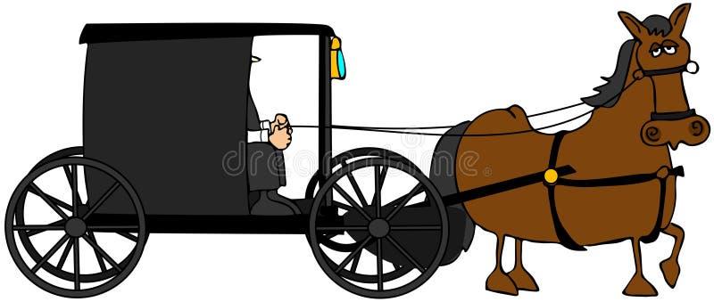 багги amish иллюстрация вектора