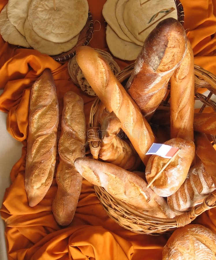 багеты французские стоковые изображения