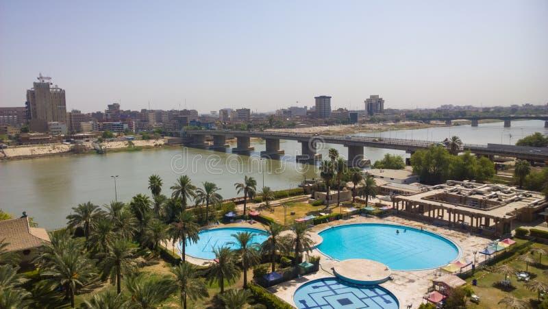 Багдад на восходе солнца стоковые изображения rf