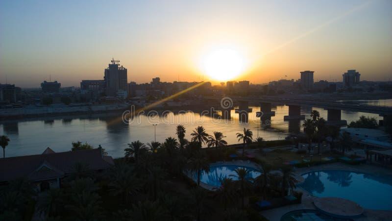 Багдад на восходе солнца стоковое фото rf