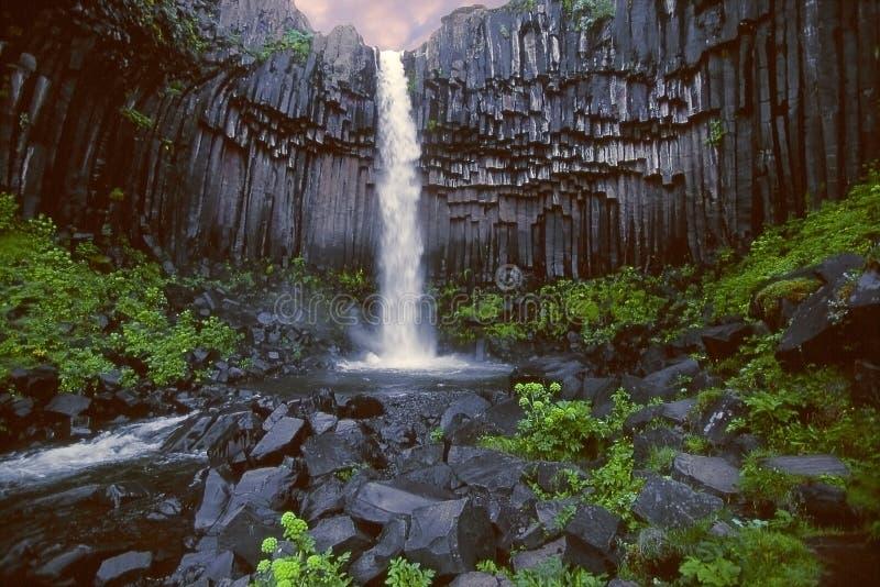 базальтовый водопад органа cirque стоковая фотография rf