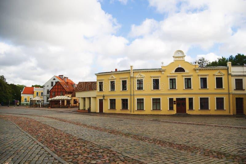 базарная площадь klaipeda стоковые изображения