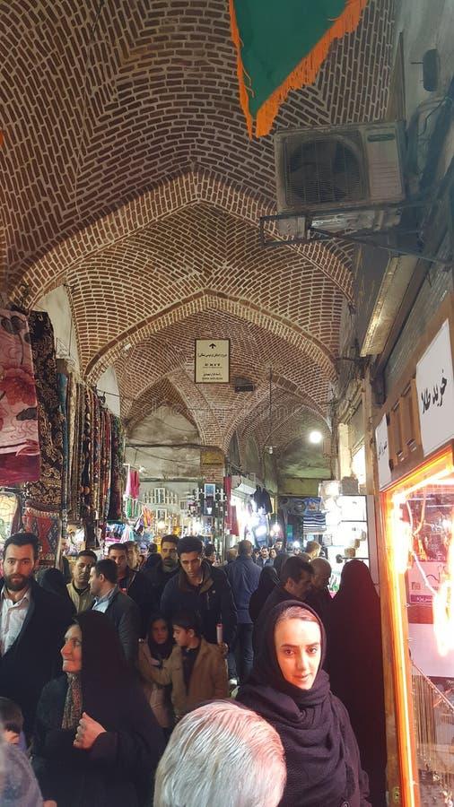 Базар Ирана Тебриза стоковые фотографии rf