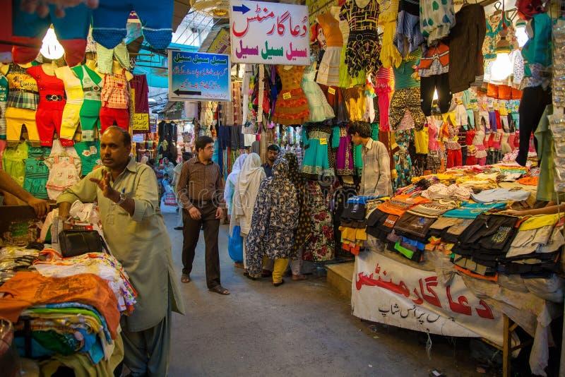 Базар Равалпинди, Пакистан стоковые изображения rf