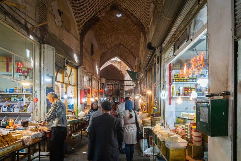 Базар Тебриза грандиозный, в Иране стоковое изображение