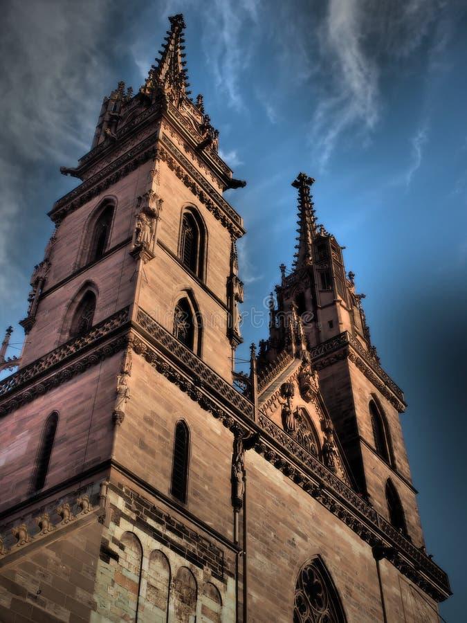 Базель - монастырская церковь - Швейцария 2019 стоковое изображение