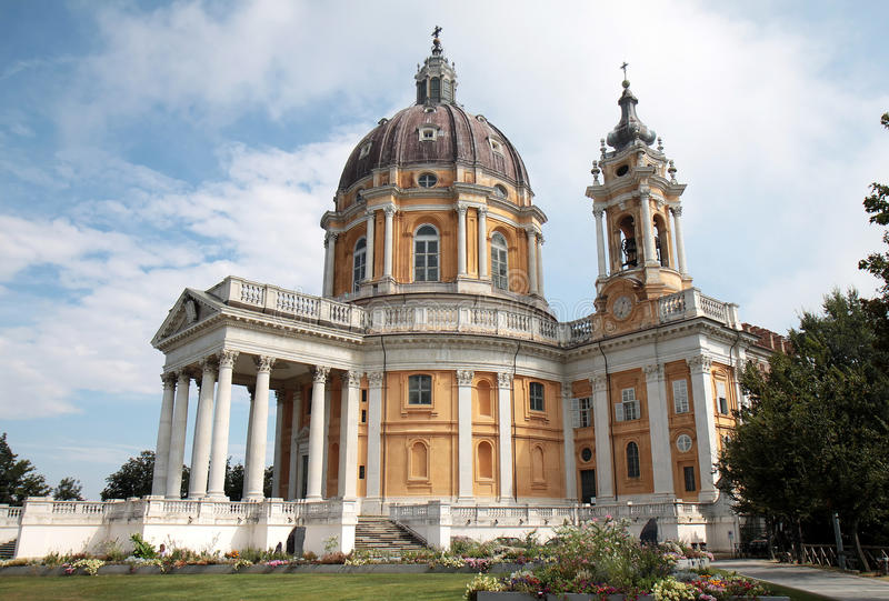 базилика Италия около superga turin стоковое фото