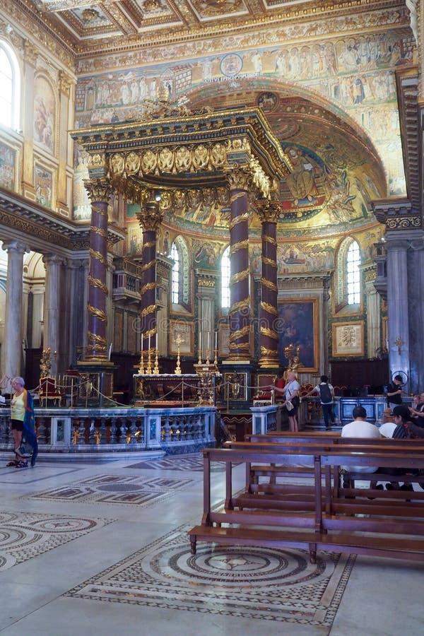 Базилика майора St Mary в Риме, Италии стоковая фотография