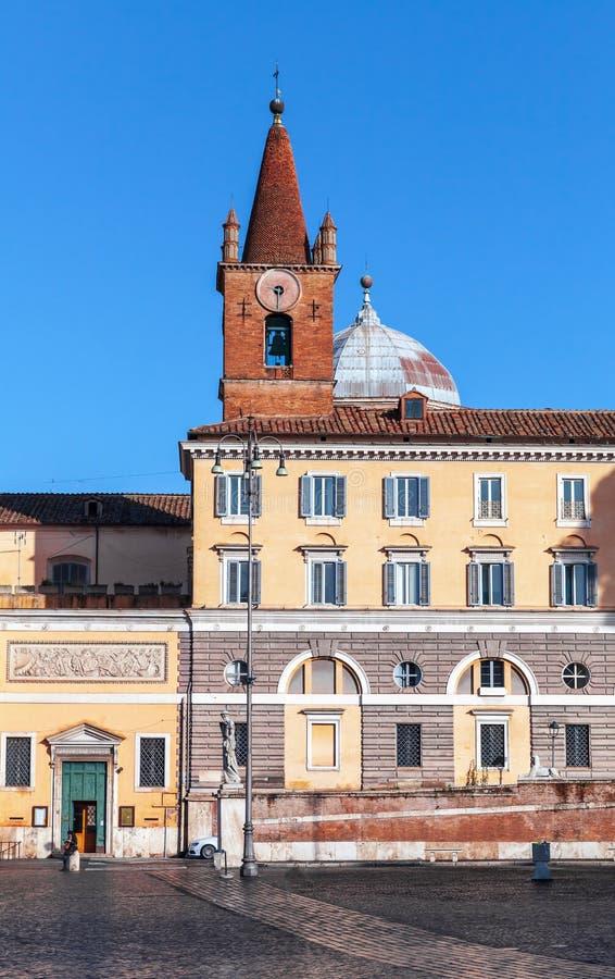 Базилика прихода Santa Maria del Popolo стоковые изображения