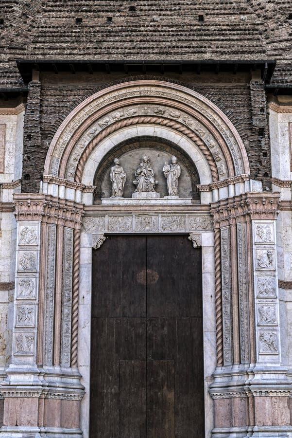 Базилика Святого Petronius в болонья стоковое изображение rf