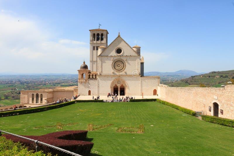 Базилика святой Фрэнсис Assisi стоковая фотография rf