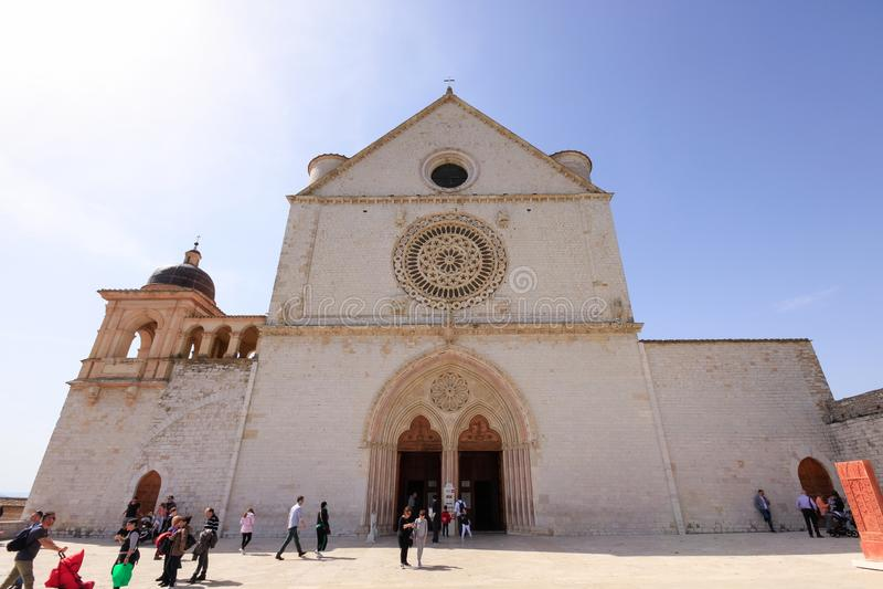 Базилика святой Фрэнсис Assisi стоковые фотографии rf