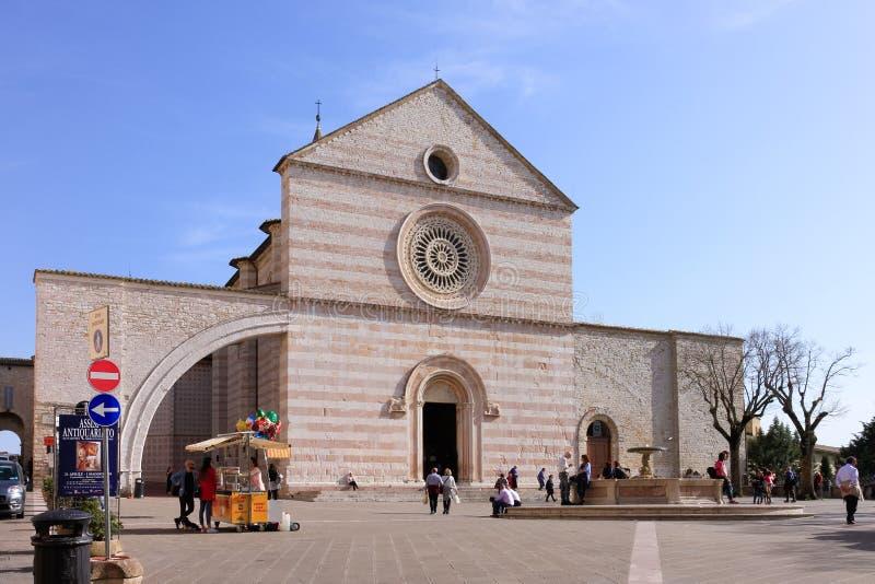 Базилика святой Clare, Assisi стоковые изображения